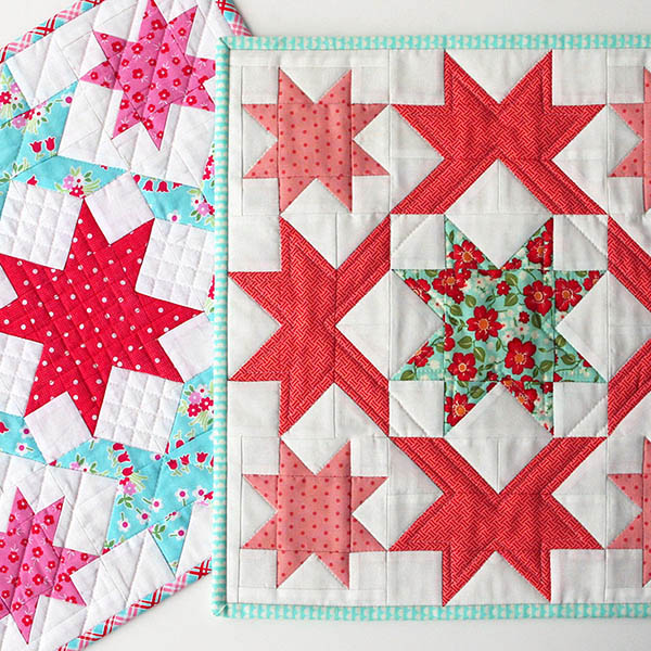 Stardust Mini Quilts – While I consider myself a modern quilter in the practical sense I am traditional at heart. A modern interpretation of classic blocks is a big part of my authentic quilt signature.