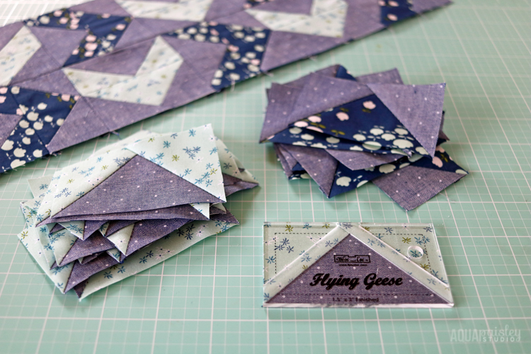 Flying Geese Bloc Loc Ruler - Duck Duck Goose Mini Quilt
