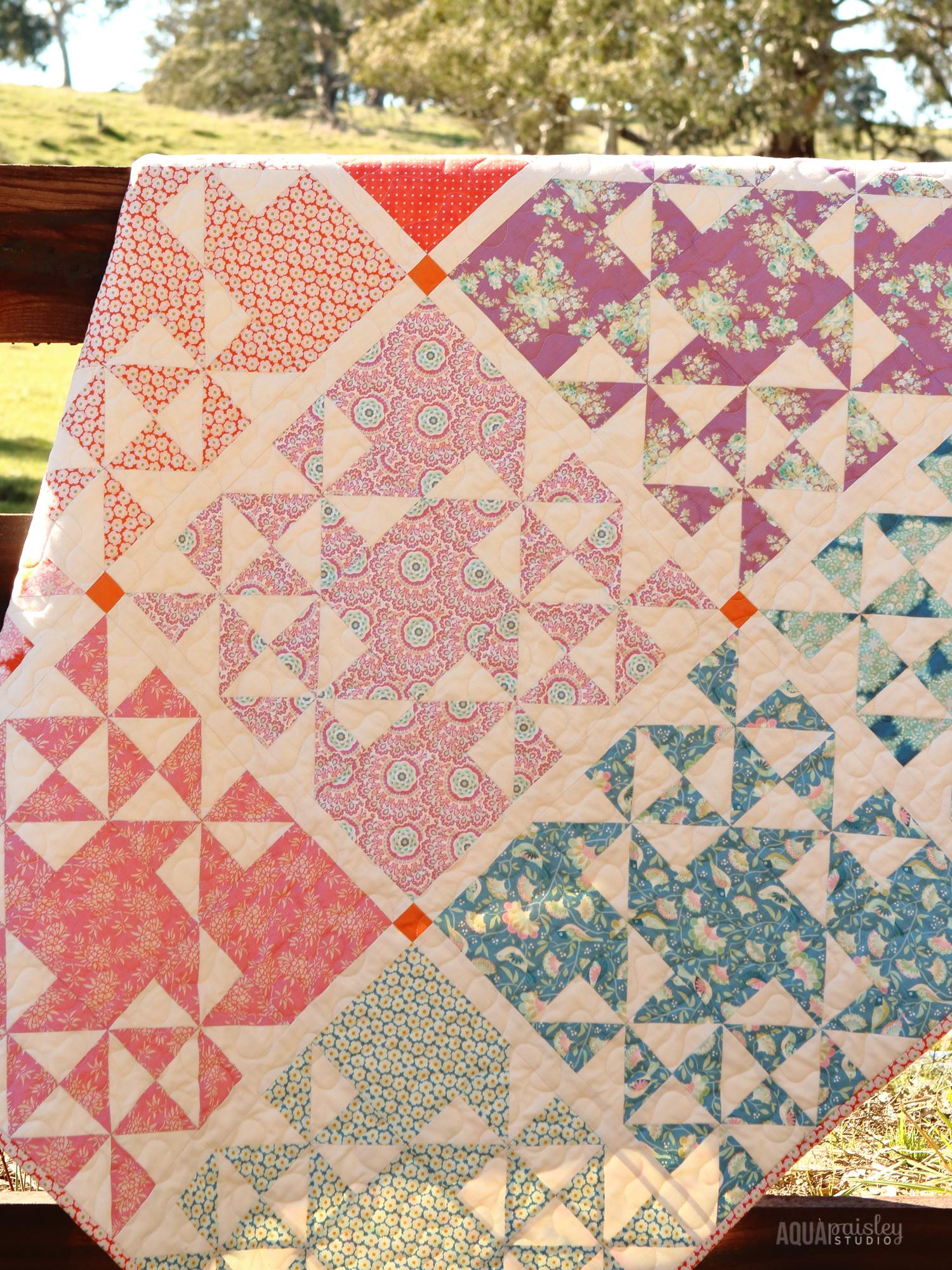 Aqua Paisley Studio: Harvest Market Quilt | Tilda Harvest Fabric
