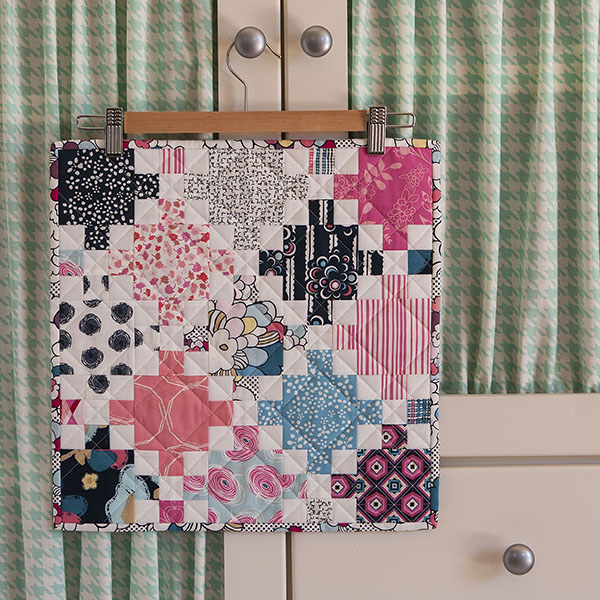 Irish Chain Mini Quilt by Aqua Paisley Studio