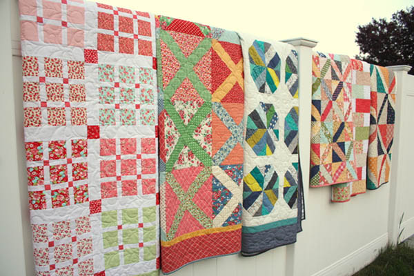 The gorgeous quilts Amy teaches in her Craftsy class! Image Source: diaryofaquilter.com