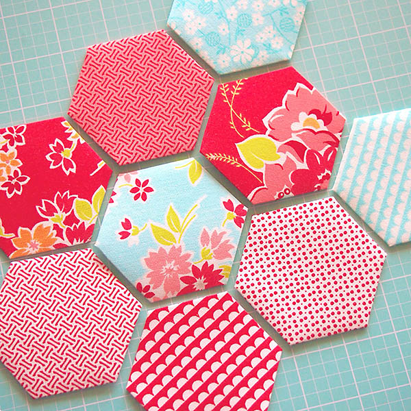 I don't know if I will ever have enough hexies to actually make a quilt but they are still fun to sew :).