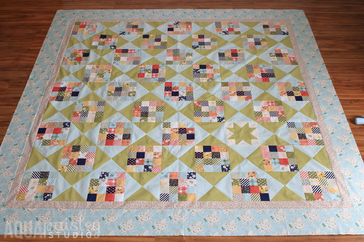 Little Miss Sunshine Going Places Quilt - Aqua Paisley Studio