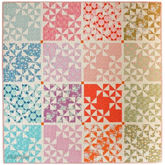 Aqua Paisley Studio. Harvest Market Quilt. Tilda Harvest Fabric
