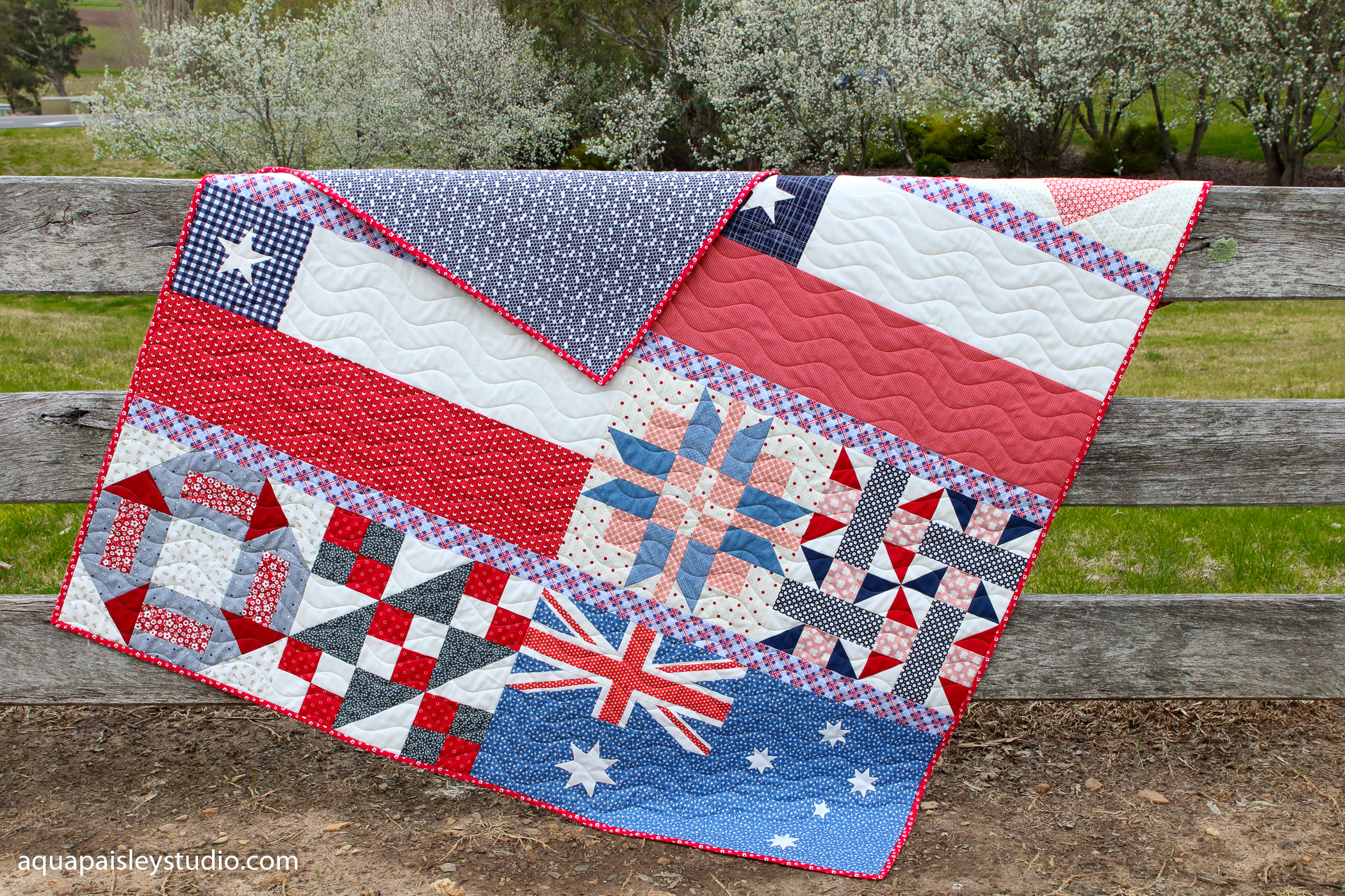 Pieces of Home Quilt | Aqua Paisley Studio