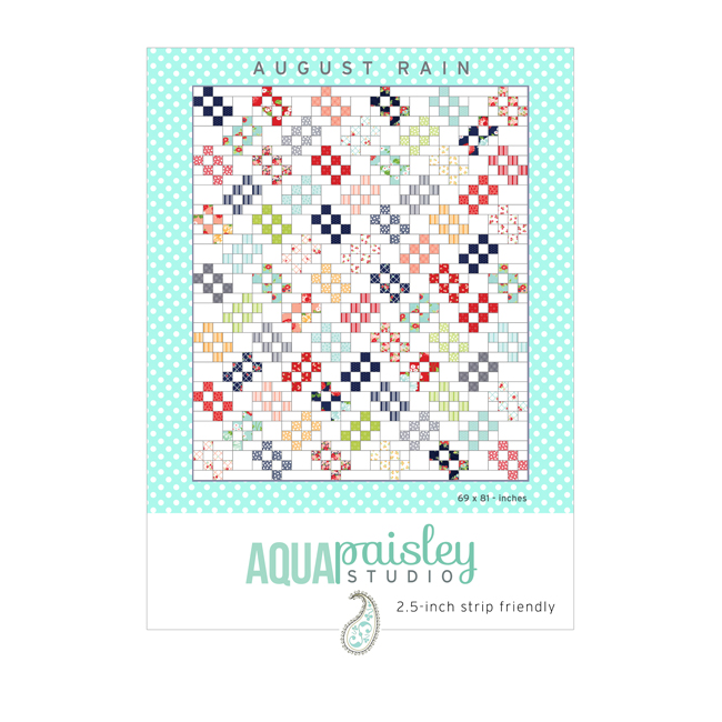 August Rain PDF Quilt Pattern by Aqua Paisley Studio