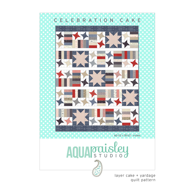 Celebration Cake PDF Quilt Pattern by Aqua Paisley Studio