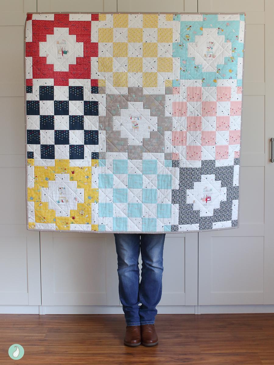 Dear Diary Quilt by Aqua Paisley Studio featuring Dear Diary fabric by Minki Kim for Riley Blake Designs