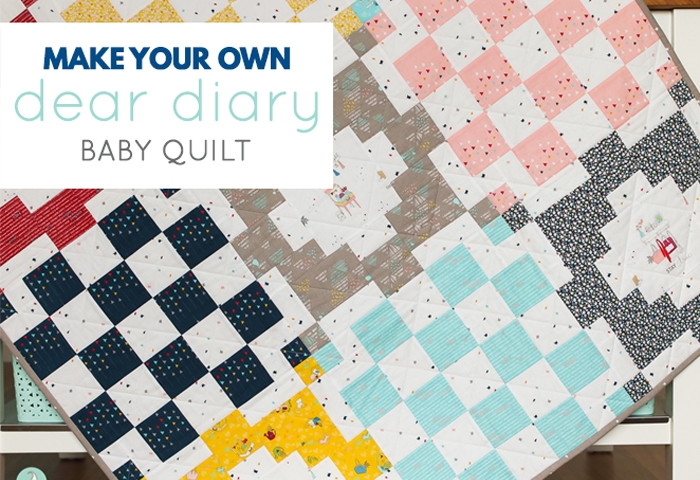 Make Your Own Dear Diary Quilt | Block B