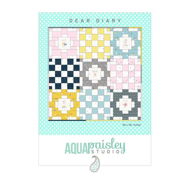 Dear Diary Quilt Pattern | Aqua Paisley Studio