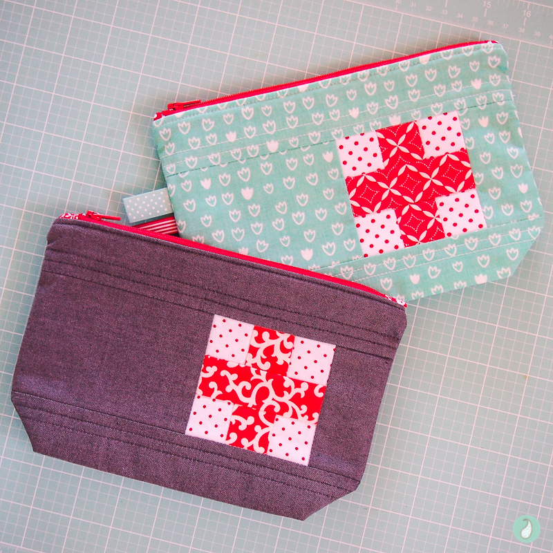 Ouch Pouch - Aqua Paisley Studio