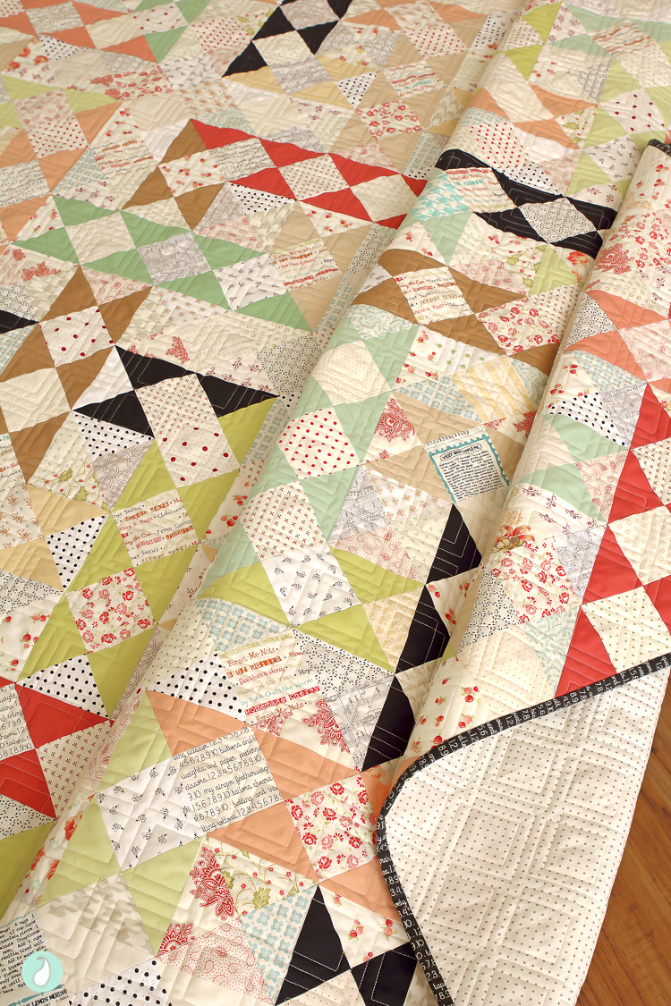Step in Time Quilt by Aqua Paisley Studio from the book Fat Quarter Favorites