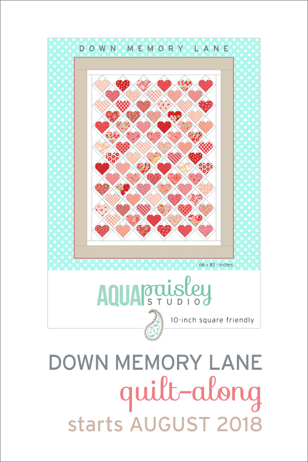 Down Memory Lane Quilt-Along 2018