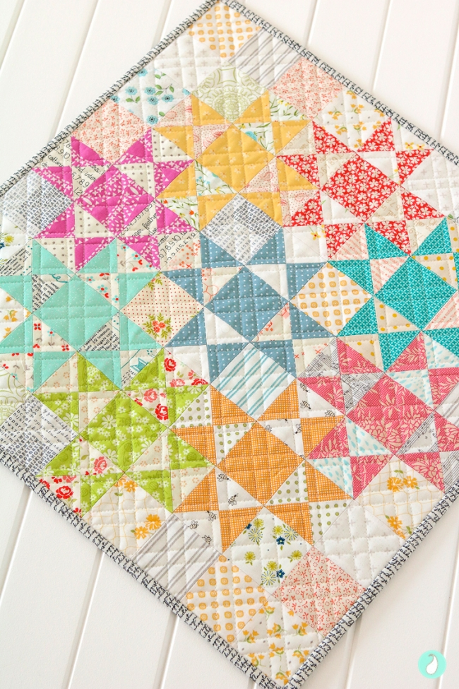 Practical Magic Mini Quilt by Aqua Paisley Studio