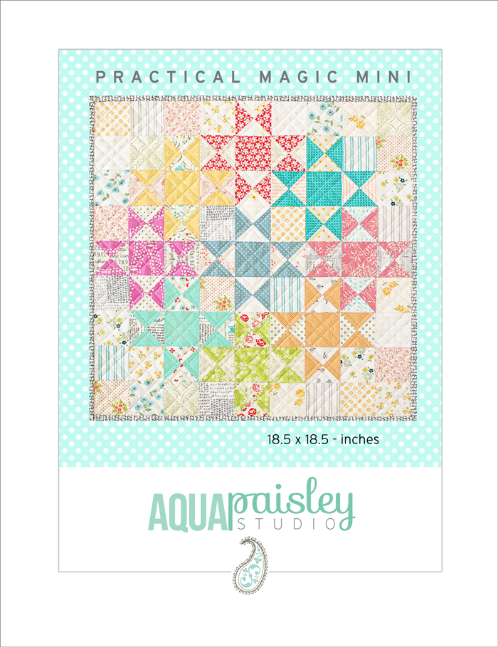Practical Magic Mini Quilt PDF Pattern by Aqua Paisley Studio