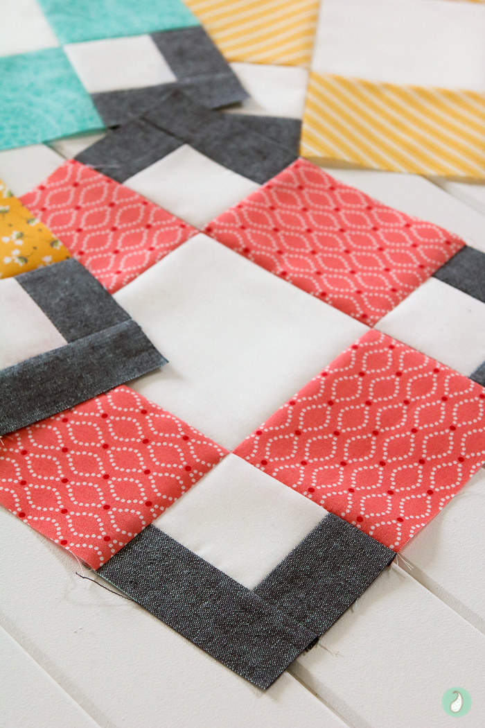 Hopscotch Quilt from the book Modern Quilts Block by Block. Made by Aqua Paisley Studio