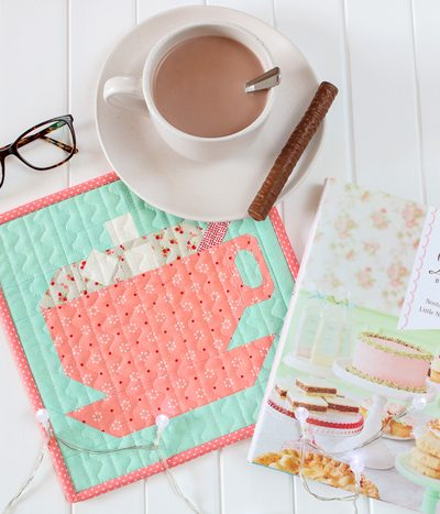 LPQ Gingerbread House SAL Mini Quilt | Aqua Paisley Studio