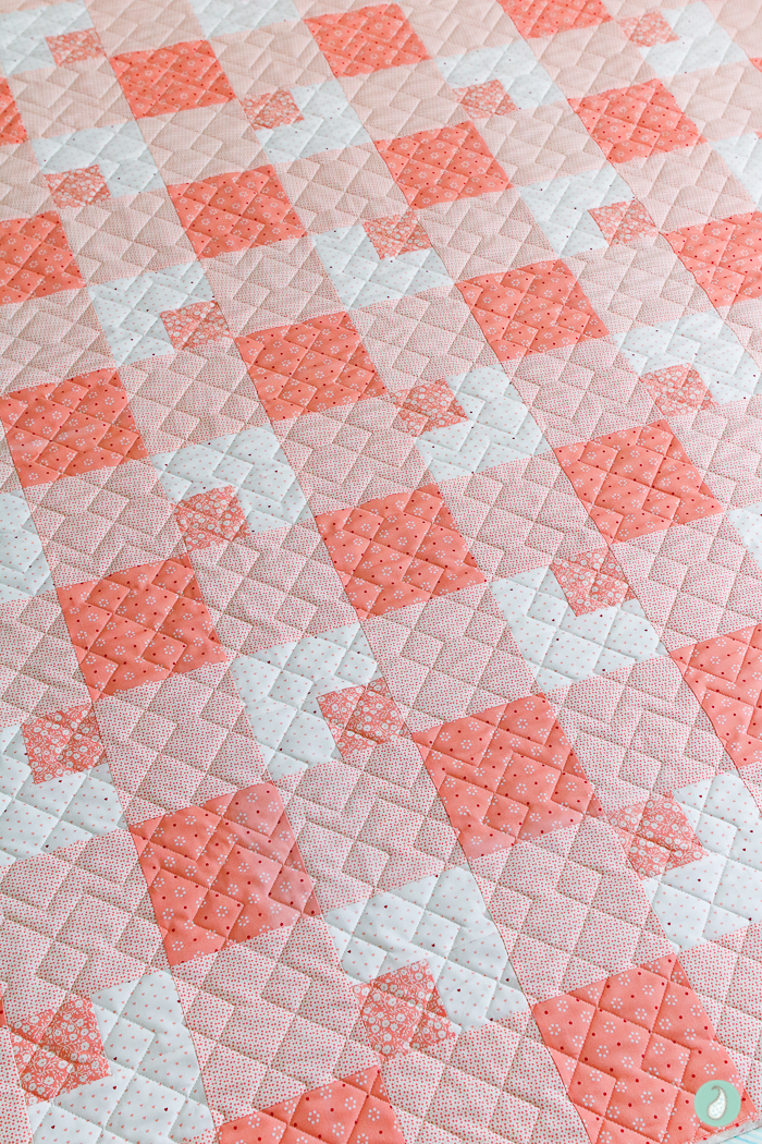 Farmhouse Paid Quilt | Aqua Paisley Studio