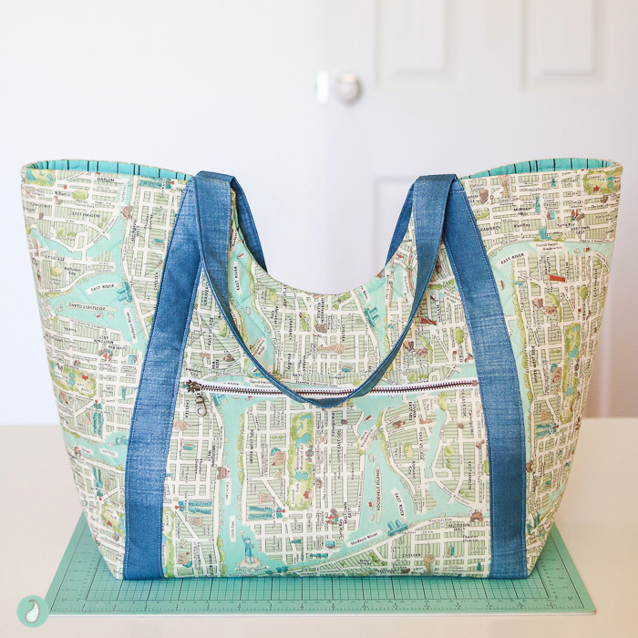 Poolside Tote | Made by Aqua Paisley Studio
