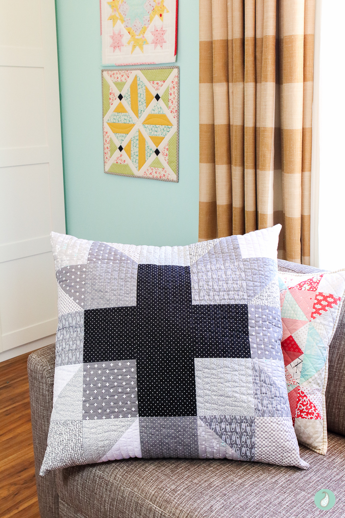 Quilt Big Hearth & Home Pillow | Aqua Paisley Studio