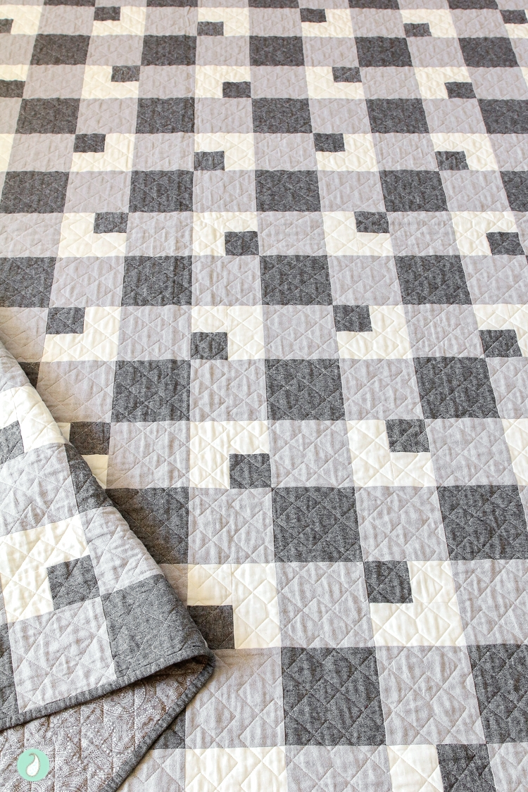 Farmhouse Plaid Quilt | Aqua Paisley Studio