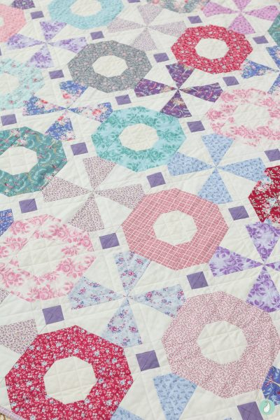 Tilda Old Rose Fabric | South Bank Spin Quilt | Aqua Paisley Studio